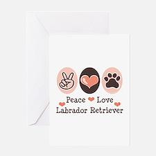 Peace Love Labrador Retriever Greeting Card
