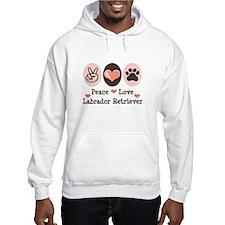Peace Love Labrador Retriever Hoodie