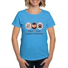 Peace Love Labrador Retriever Tee