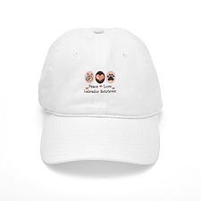 Peace Love Labrador Retriever Baseball Cap
