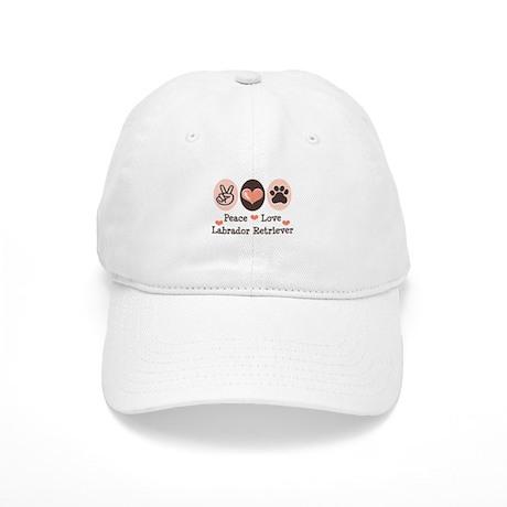 Peace Love Labrador Retriever Cap