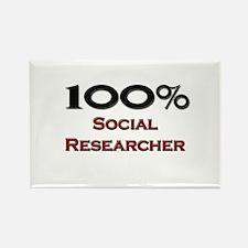 100 Percent Social Researcher Rectangle Magnet