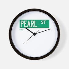 Pearl Street in NY Wall Clock