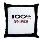 100 Percent Sniper Throw Pillow