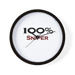 100 Percent Sniper Wall Clock