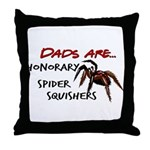 Spider Squishers Throw Pillow