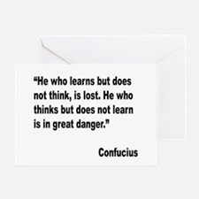 Confucius Lost Danger Quote Greeting Card