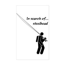 """""""In Search Of Steelhead"""" Rectangle Decal"""
