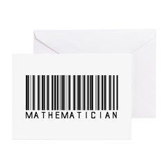 Mathematician Barcode Greeting Cards (Pk of 10)