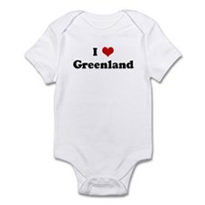 I Love Greenland Infant Bodysuit