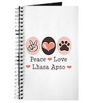 Peace Love Lhasa Apso Journal