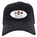 Peace Love Lhasa Apso Black Cap