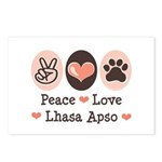 Peace Love Lhasa Apso Postcards (Package of 8)