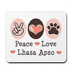 Peace Love Lhasa Apso Mousepad