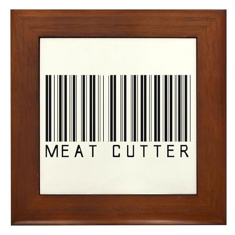 Meat Cutter Barcode Framed Tile