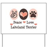 Peace Love Lakeland Terrier Yard Sign