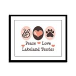 Peace Love Lakeland Terrier Framed Panel Print