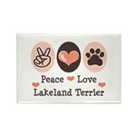Peace Love Lakeland Terrier Rectangle Magnet (100
