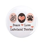Peace Love Lakeland Terrier 3.5