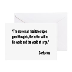 Confucius Good Thoughts Quote Greeting Card
