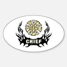 Fire Chief Tattoo Flames Decal