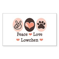Peace Love Lowchen Rectangle Decal