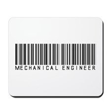 Mechanical Engineer Barcode Mousepad