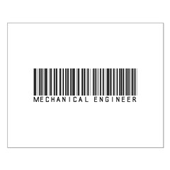 Mechanical Engineer Barcode Posters