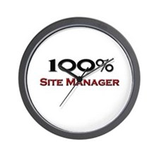 100 Percent Site Manager Wall Clock