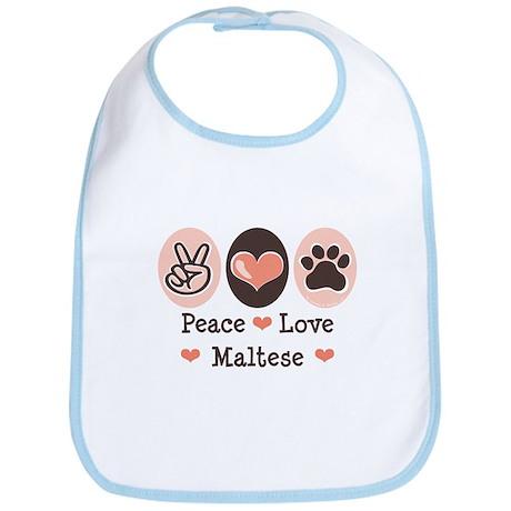 Peace Love Maltese Bib