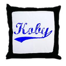 Vintage Koby (Blue) Throw Pillow