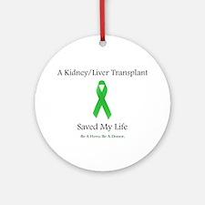 Kidney/Liver Transplant Ornament (Round)