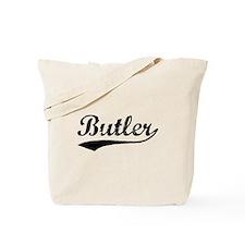 Vintage Butler (Black) Tote Bag