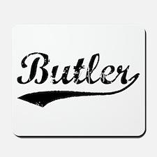 Vintage Butler (Black) Mousepad