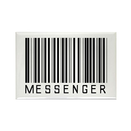Messenger Barcode Rectangle Magnet