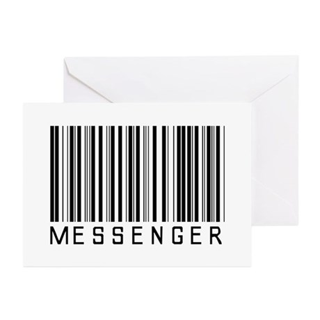 Messenger Barcode Greeting Cards (Pk of 10)