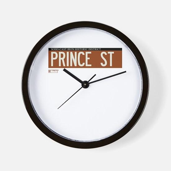 Prince Street in NY Wall Clock