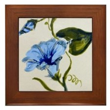 Framed Tile with hand painted design