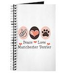 Peace Love Manchester Terrier Journal