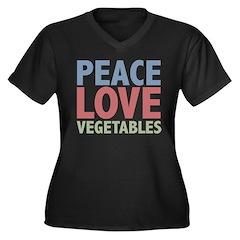 Peace Love Vegetables Vegetarian Women's Plus Size