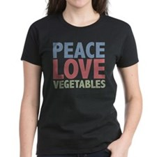 Peace Love Vegetables Vegetarian Tee
