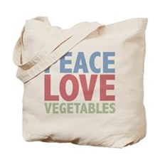 Peace Love Vegetables Vegetarian Tote Bag