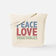 Peace Love Vegetables Vegetarian Tote Bag