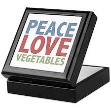 Peace Love Vegetables Vegetarian Keepsake Box
