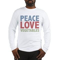 Peace Love Vegetables Vegetarian Long Sleeve T-Shi