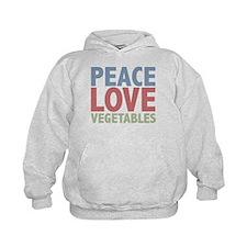 Peace Love Vegetables Vegetarian Hoody