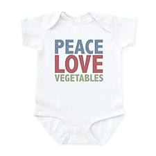 Peace Love Vegetables Vegetarian Infant Bodysuit