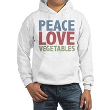 Peace Love Vegetables Vegetarian Jumper Hoody