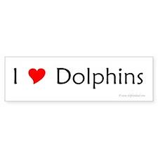 I Love Dolphins Bumper Bumper Sticker