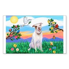 Bright Life / Pit Bull Terrier Sticker (Rectangula